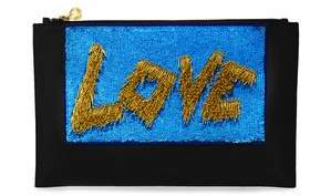 Forest of Chintz The Love Clutch - Blue And Gold