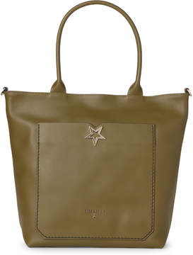 Patrizia Pepe Daily Green Star Leather Tote