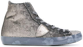 Philippe Model sequin embellished hi-top sneakers