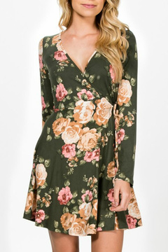 Everly Faux-Wrap Floral Dress