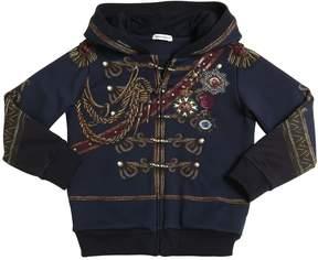 Dolce & Gabbana Hooded Printed Cotton Sweatshirt