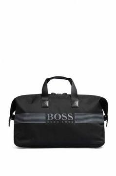 Hugo Boss Logo-Print Nylon Travel Bag Pixel Holdall One Size Black