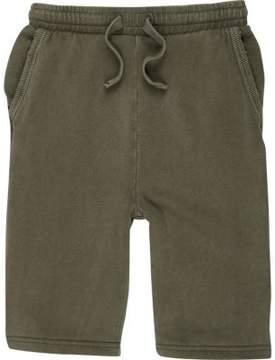 River Island Boys khaki green jersey shorts