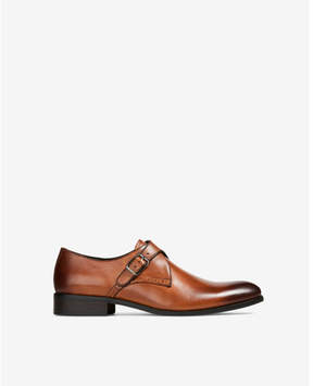Express brown leather dress shoe