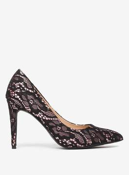 Dorothy Perkins Black Lace 'Emily' Point Court Shoes