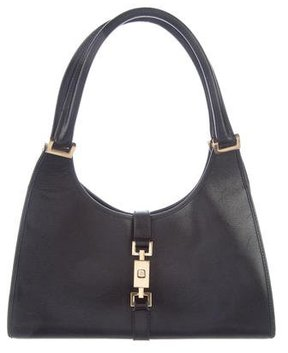 Gucci Leather Jackie Bag - BLACK - STYLE