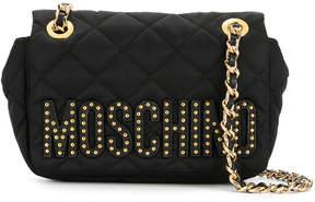Moschino mini quilted logo crossbody bag