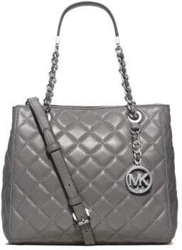 MICHAEL Michael Kors Susannah Small Quilted Leather Tote