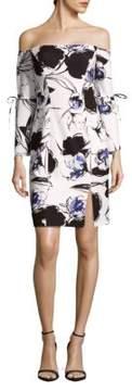 Alexia Admor Solid Ruffle Hem Sheath Dress