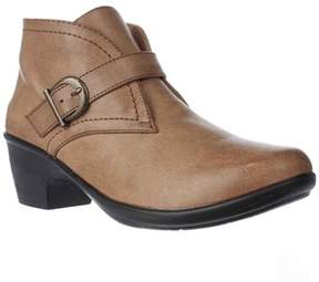 Easy Street Shoes Banks Cross Strap Ankle Booties, Tan.