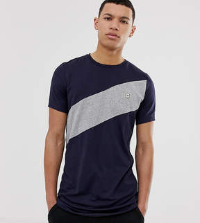 Le Breve TALL Diagonal Panel T-Shirt