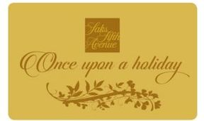 Saks Fifth Avenue Gold Holiday Gift Card