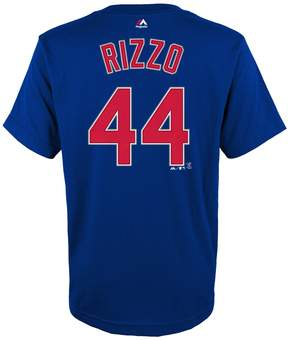 Majestic Boys 4-18 Chicago Cubs Anthony Rizzo Player Name and Number Tee