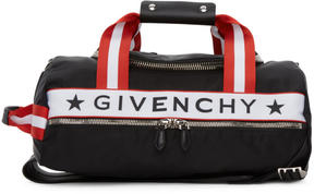 Givenchy Black and Red Logo Webbing Backpack