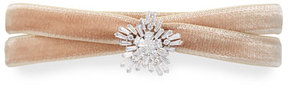 Fallon Monarch Mini Velvet Choker Necklace with Crystal Starburst, Blush
