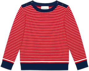 Children's striped wool sweater