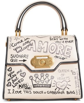 Dolce & Gabbana Medium Welcome Leather Satchel - Ivory - IVORY - STYLE