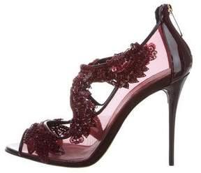 Oscar de la Renta Ambria Sequined Sandals