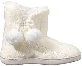 Joe Fresh Kid Girls' Lined Booties, Off White (Size M)