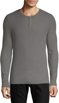 ATM Anthony Thomas Melillo Men's Long Sleeve Henley T-Shirt