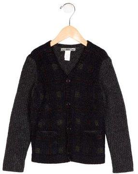 Bonpoint Boys' Wool V-Neck Cardigan