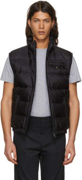 Prada Black Down Puffer Vest