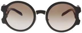 Prada PR 13US DHO0A6 Brown Round Sunglasses