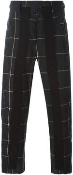 Damir Doma checked cropped trousers