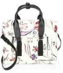 3.1 Phillip Lim Floral Print Leather Satchel