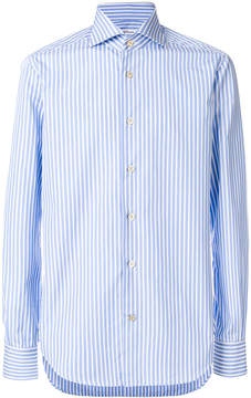 Kiton striped buttoned up shirt