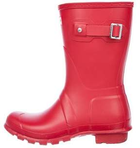 Hunter Short Round-Toe Rain Boots