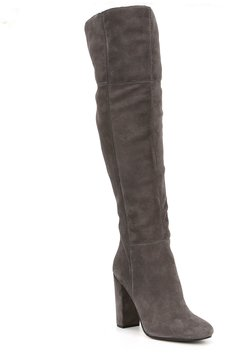 Gianni Bini Ventah Suede Wide Calf Over The Knee Boots