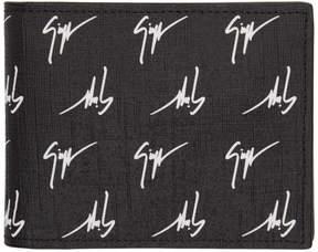 Giuseppe Zanotti Black All Over Logo Wallet