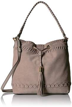 Milly Astor Suede Whipstitch Bucket Bag