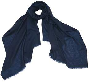 Aspinal of London Lightweight Cashmere Scarf In Blue Moon