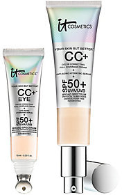 It Cosmetics Full Coverage Physical SPF 50 CC Cream Face & Eye Duo