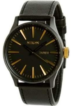Nixon Men's Sentry A1051041 Black Leather Quartz Dress Watch