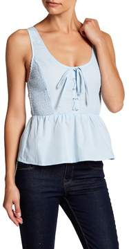 Flying Tomato Lace-Up Tank Top