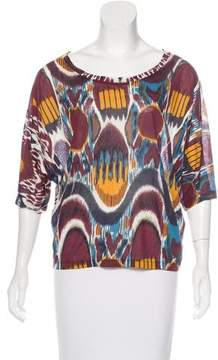 Dries Van Noten Abstract Print Scoop Neck Top