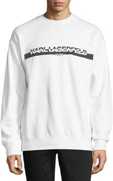 Karl Lagerfeld Paris Block Logo Graphic Sweatshirt