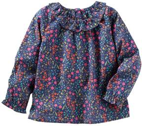 Osh Kosh Oshkosh Bgosh Toddler Girls Ruffled Floral Top