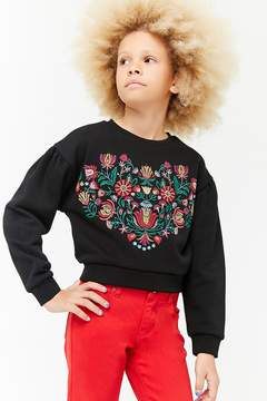 Forever 21 Girls Embroidered Sweatshirt (Kids)