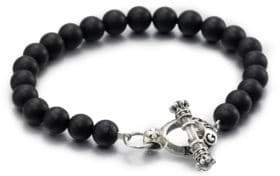 King Baby Studio Black Onyx Beaded Bracelet