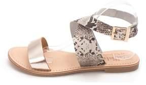 Callisto Womens Babita Leather Open Toe Casual Slingback Sandals.