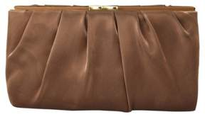Nina 'Larry' Satin Clutch - Brown