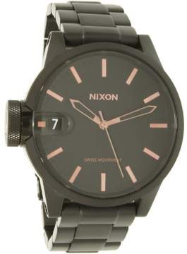 Nixon Men's A441957 Black Stainless-Steel Swiss Quartz Dress Watch