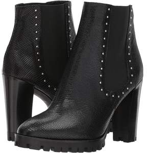 The Kooples Reptile-Effect Leather Boots with Studs Women's Shoes