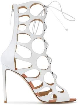 Francesco Russo cut-out detail zip sandals