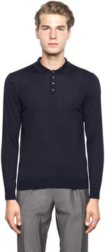 Drumohr Merino Wool Polo Sweater