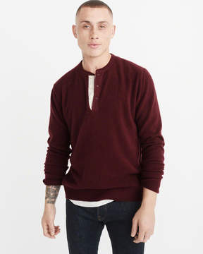 Abercrombie & Fitch Cashmere Henley Sweater